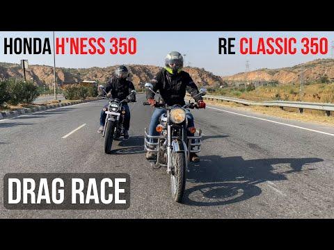 Honda Highness CB350 VS Royal Enfield Classic 350 - Drag Race