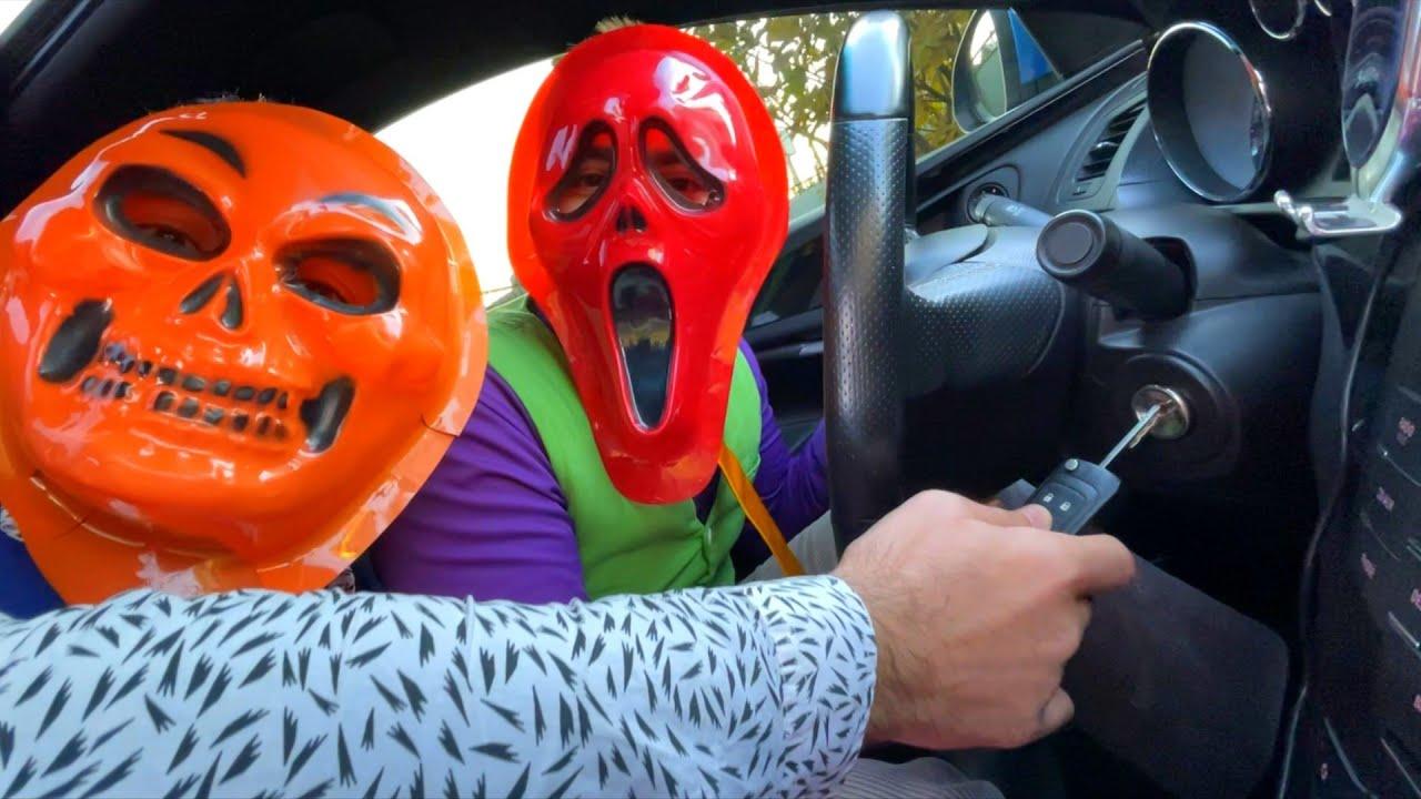 Thief Mr. Joker Stole Car Keys & Sports Car VS Mr. Joe on Motorcycle Put Stick in Wheel 13+