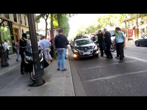 Agression d'un chauffeur Uber à Paris par des Taxis