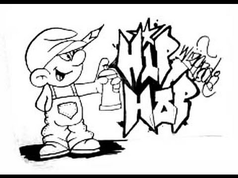 How To Draw A Smurf And Graffiti Youtube