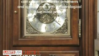 Hm | Coolidge Grandfather Clock In Saratoga Cherry 611-180
