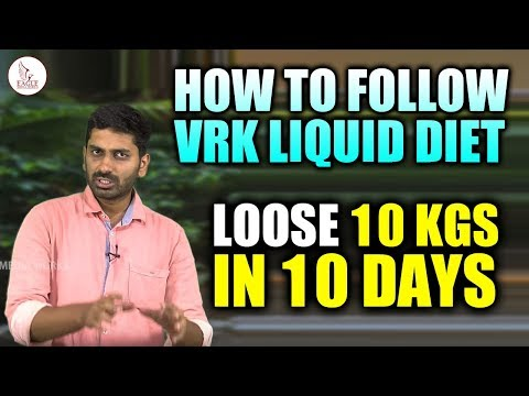 VRK Liquid Diet For Weight Loss | Explained Easily in English | Eagle Media Works