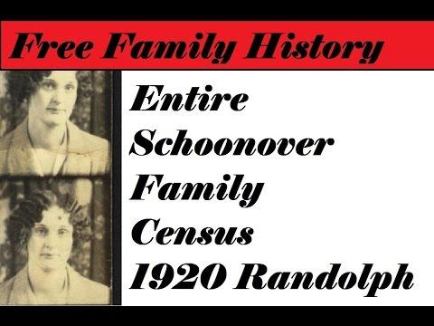 Entire Schoonover family 1820 Virginia Census, Randolph County