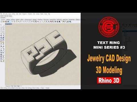 Text Ring Mini Series #3 Jewelry CAD Design Tutorial in Rhino 6 (2018)