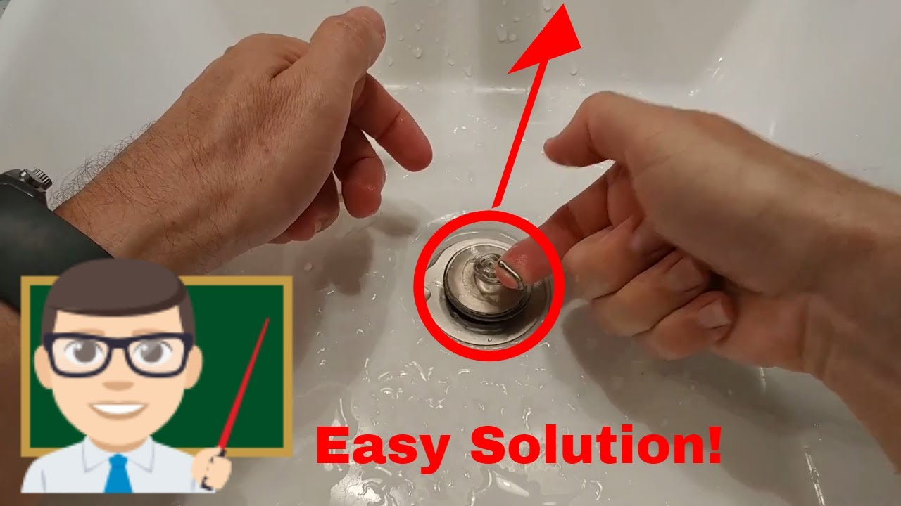 how to remove a stuck pop up sink plug easily