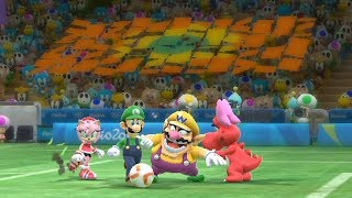 Mario and Sonic at The Rio 2016 Olympic Games Football -Blaze vs Mario and Blaze vs Sliver