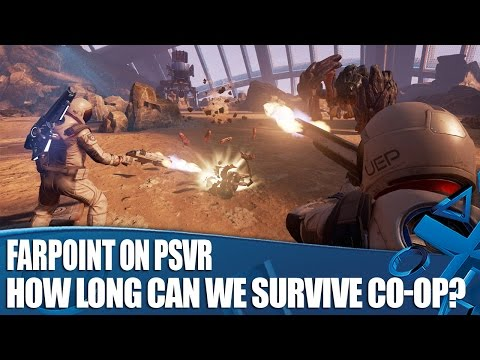Farpoint PS VR Co-op Gameplay - How Long Can We Survive?