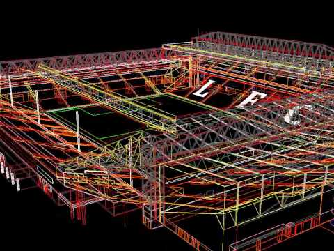 3D wireframe model of Anfield
