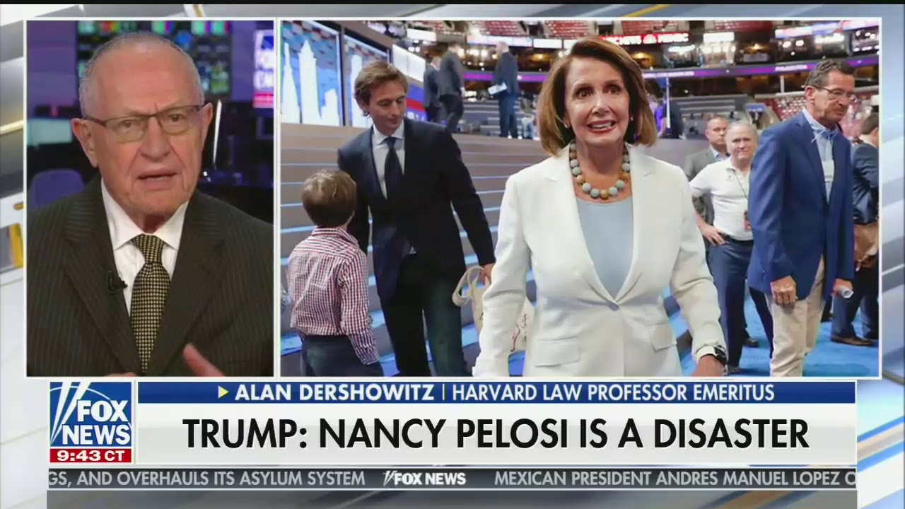 Image result for Dershowitz vs Pelosi