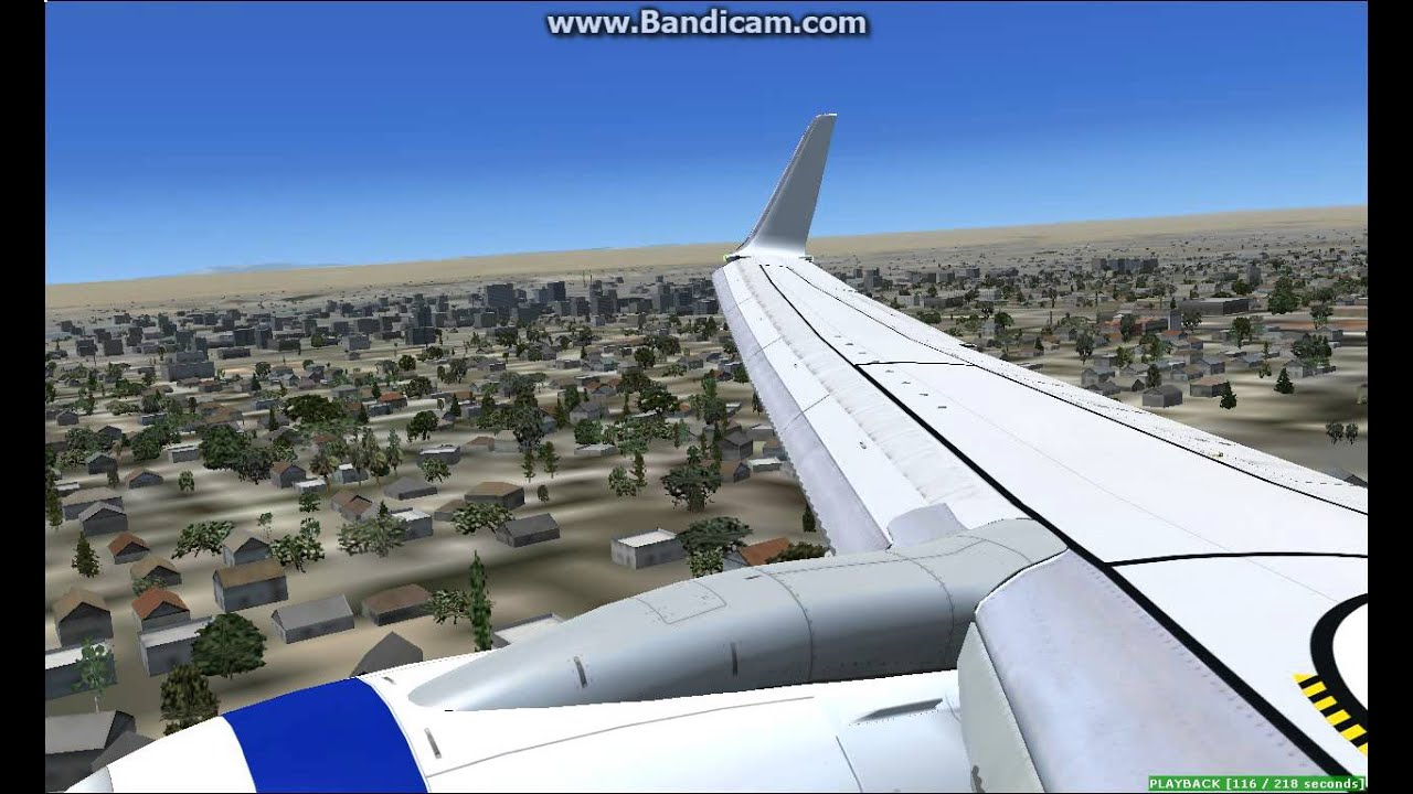 FSX Virgin Blue PMDG 737-800 Landing KABQ - Самые лучшие видео