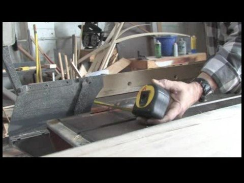 Tapered Cut Techniques For Table Saw Cutting The Base Width For A