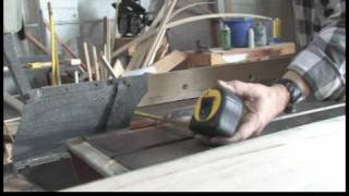 Tapered Cut Techniques For Table Saw : Cutting The Base Width For A Table Saw Jig