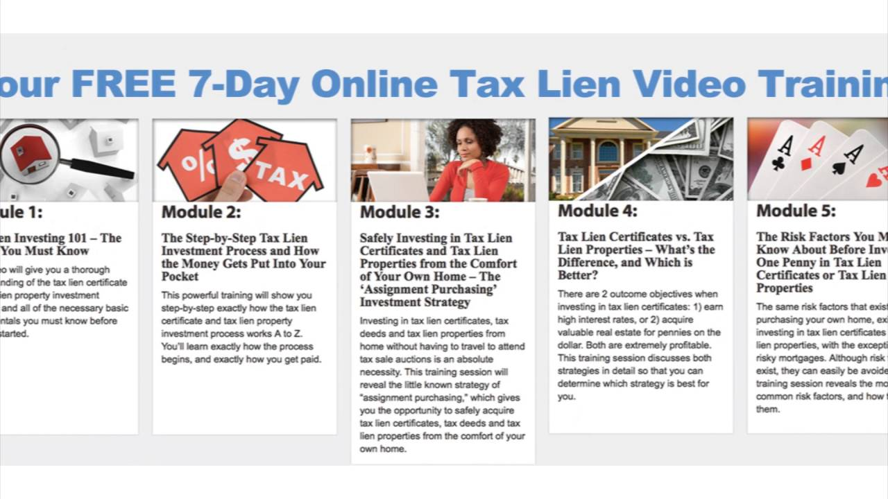 Free Tax Lien Investing Course By The Us Tax Lien Association Youtube