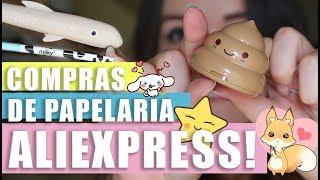 UNBOXING | Comprinhas de PAPELARIA no ALIEXPRESS!!