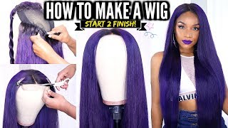 How to Make a Wig START TO FINISH DIY Lace Closure Wig