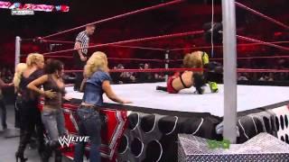 Melina vs Alicia Fox Lumber Jill Match HD