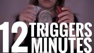 ASMR 12 TRIGGERS IN 12 MINUTES | 12 ТРИГГЕРОВ ЗА 12 МИНУТ АСМР