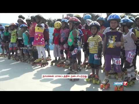 Skating competition a big draw among children in Namakkal | Tamil Nadu | News7 Tamil |