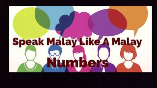 Speak Malay like A Malay - Numbers
