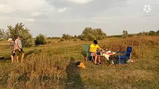 Лето август 2021 с родственниками на рыбалке в Водопойном Крым
