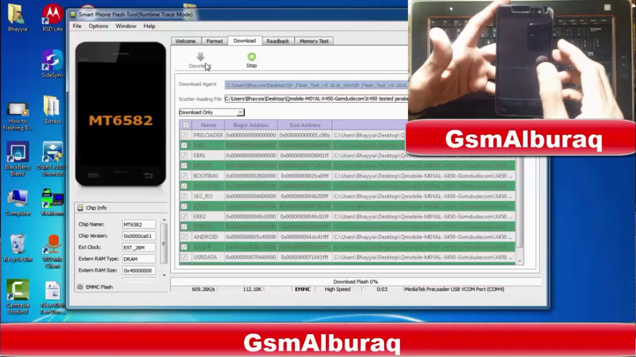 How To Flash Qmobile X450,Android Mobile Flashing, Flashing without Box
