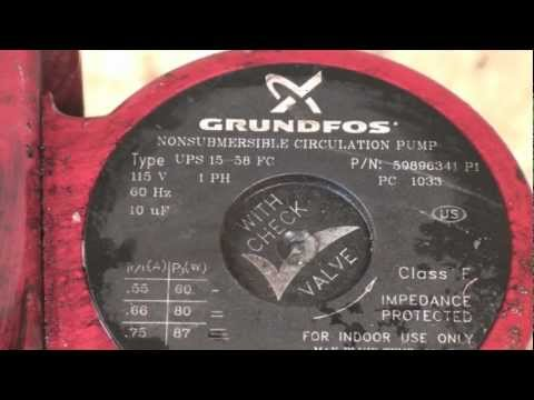disassembly of the the grundfos boiler circ pump youtube Viking Wiring Diagram