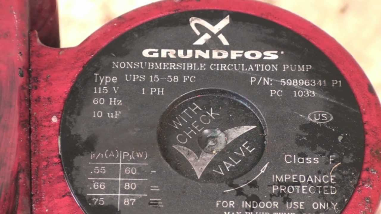 Disassembly Of The The Grundfos Boiler Circ Pump