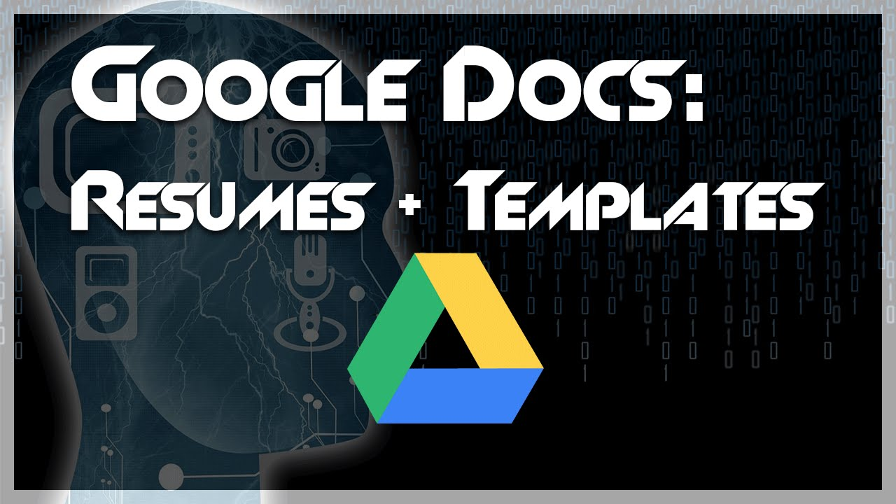 TUTORIAL: How To Create A Resume Using Google Docs Templates   YouTube  Google Resume Template