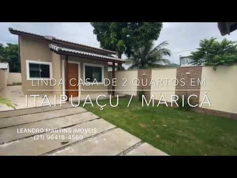 LINDA CASA DE 2 QUARTOS EM ITAIPUAÇU / MARICÁ / RJ - LEANDRO MARTINS IMÓVEIS