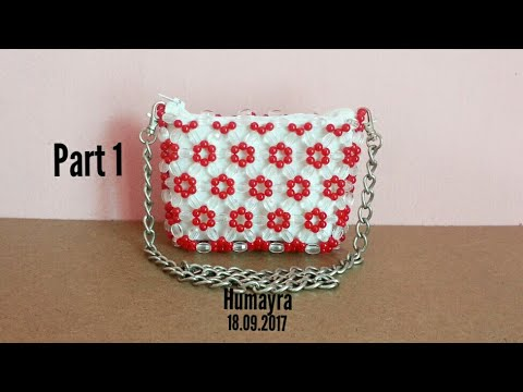 7fa13caf8c How to make beaded bag  purse  part 1  Easy Technique - YouTube
