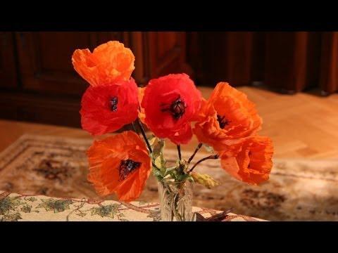 видео: Как сделать Цветок мака из салфеток своими руками