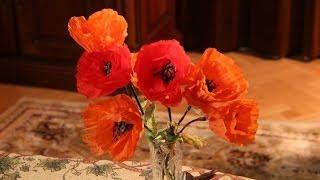 Как сделать Цветок мака из салфеток своими руками(Как сделать Цветок мака из салфеток - очень легко и просто. Смотрите видео в котором я подробно рассказыва..., 2014-06-21T09:53:03.000Z)