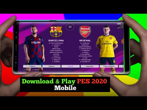 Download & Play PES 2020 In Mobile Phone-PS4 Version PES 2020😍