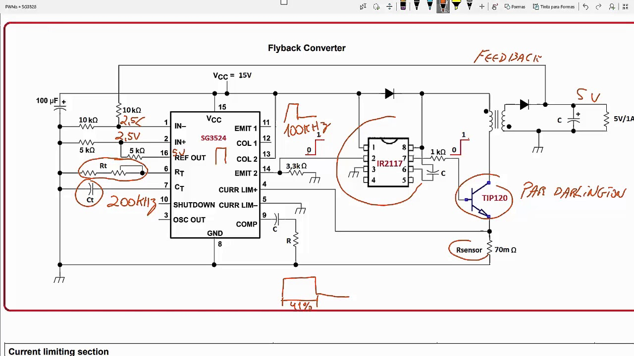 250w Pwm Inverter Circuit Sg3524 Electronics T Generator With 555 Diagram Nonstopfree Electronic Circuits Parte 6 Limitao De Corrente