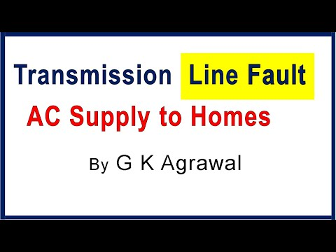 AC power supply during transmission line fault & trip