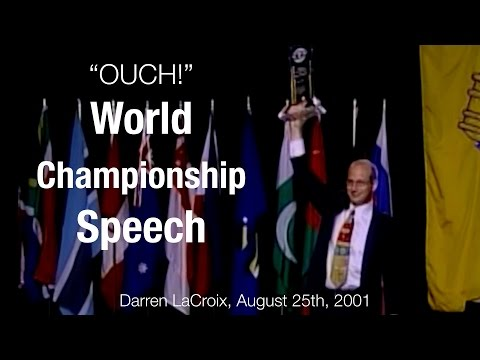 Toastmasters World Championship of Public Speaking, Best Speeches Darren's Winning Speech