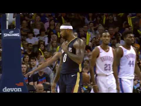 New Orleans Pelicans vs Oklahoma City Thunder Highlights   Oct 06 2017 NBA Pre Season