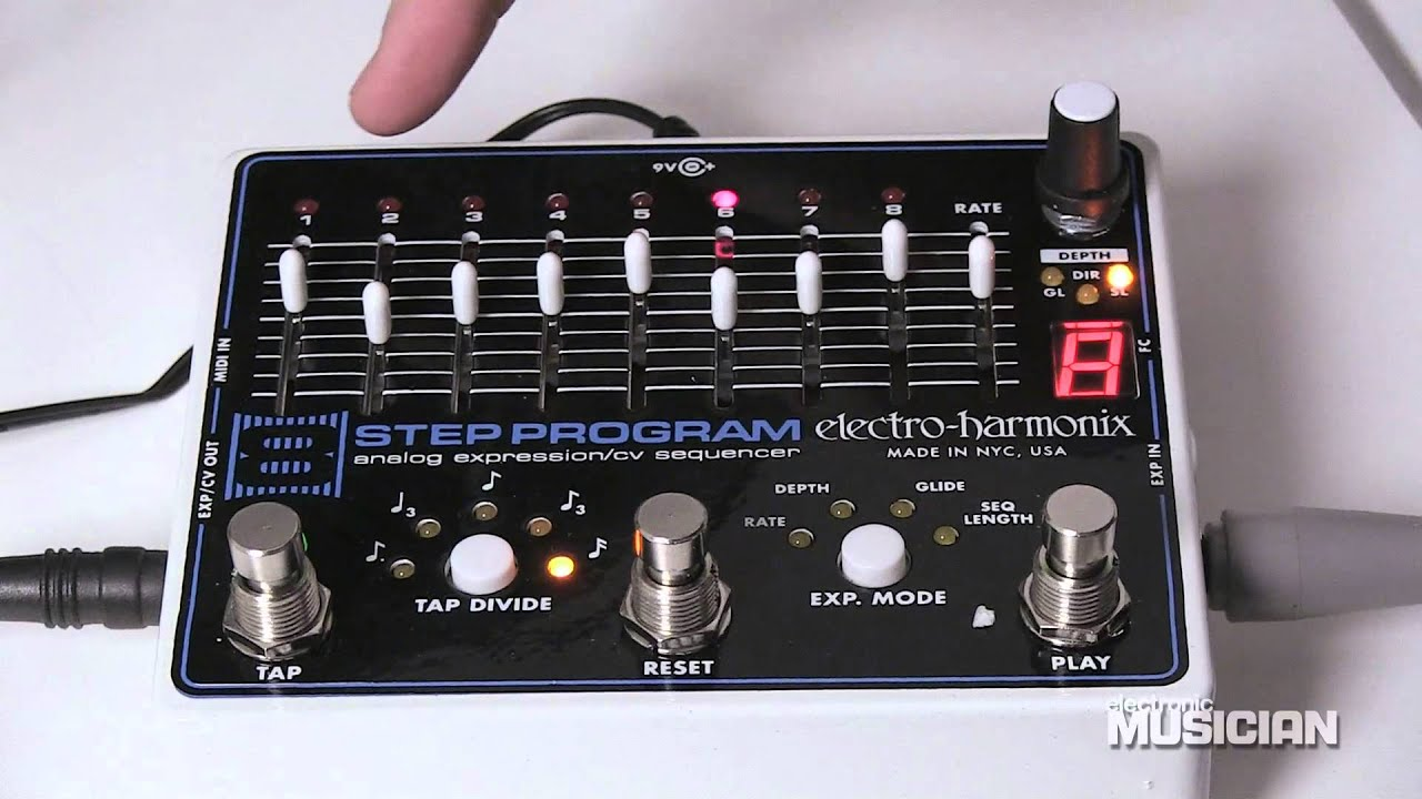 electro harmonix step program cv sequencer overview electro harmonix 8 step program cv sequencer overview