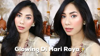 SIMPLE & GLOWING LEBARAN MAKEUP LOOK TUTORIAL | PRODUK LOKAL!
