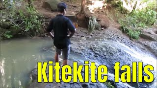 Going to the top of falls, Kitekite falls, Auckland