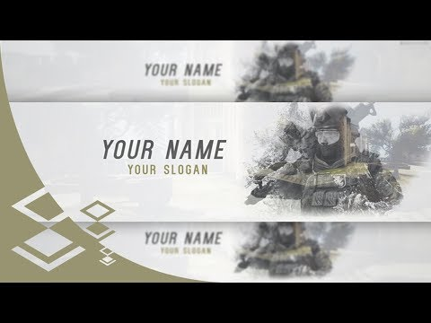 FREE YOUTUBE BANNER TEMPLATE   CS:GO   Photoshop - GraphicNation