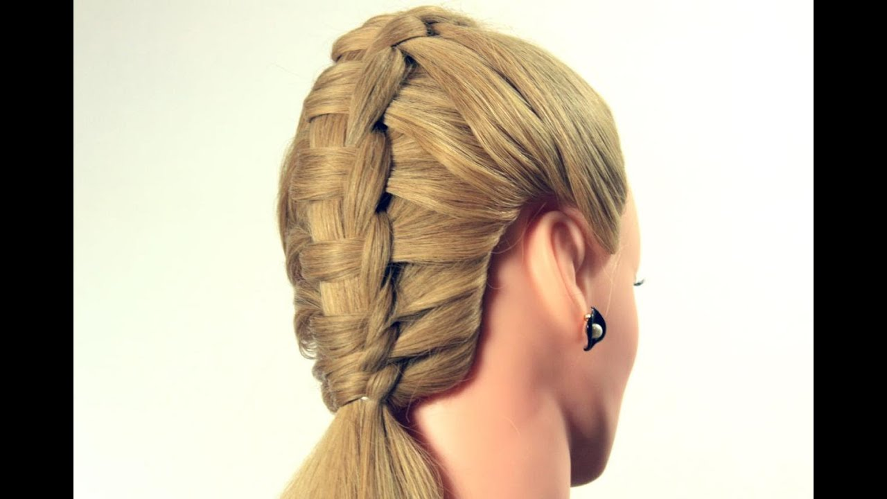 Day Hairstyles For Long Hair: Прическа с плетением на каждый день. Braided Hairstyle For