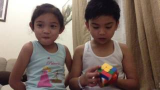 Solving Rubiks Cube with my Sister Lian