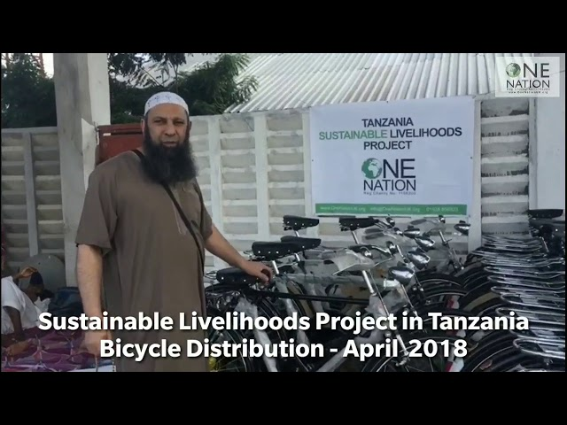 Sustainable Livelihood Project in Tanzania - Bicycle  Distribution - 2 April 2018