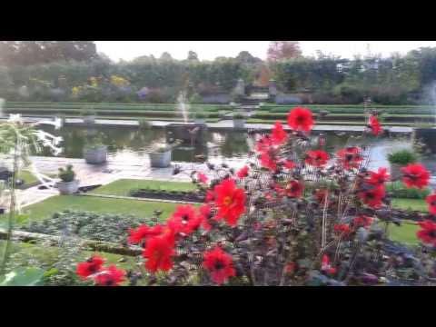 Sunken garden in Hyde park, London