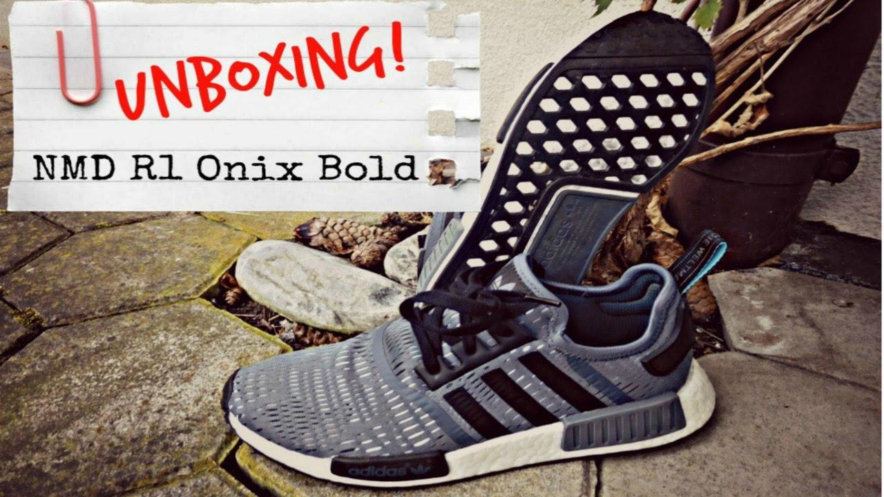 brand new 39110 b09d4 Adidas NMD R1 Onix Bold Footlocker EU Exclusiv Unboxing!   swiss LP ...