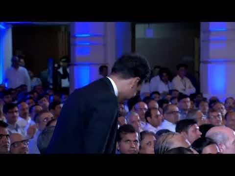 Shri Mukesh D. Ambani addressing shareholders at 42nd Annual General Meeting of #RIL