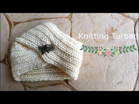 Womens Hat Knitting Turban Hat Youtube