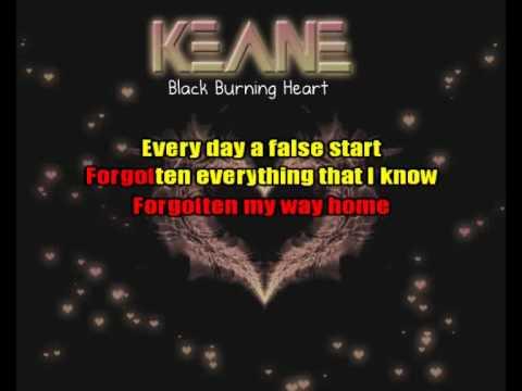 Black Burning Heart (Keane) Karaoke