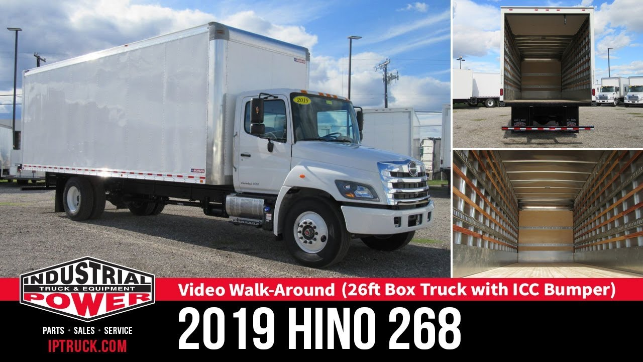 2019 hino 268 26ft box truck with icc bumper hino truck review commercial truck [ 1280 x 720 Pixel ]